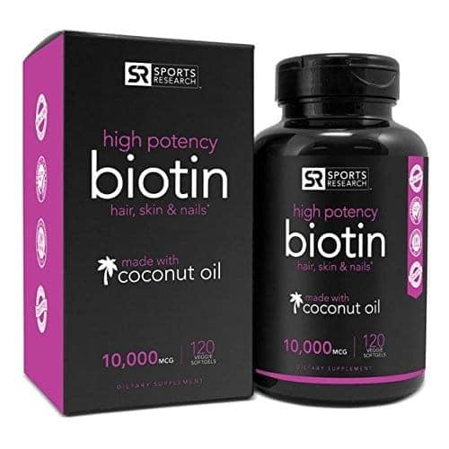 Biotin 10,000mcg in Cold-Pressed Organic Coconut
