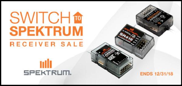 Switch to Spektrum Receiver Sale